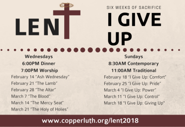 giving up dating for lent
